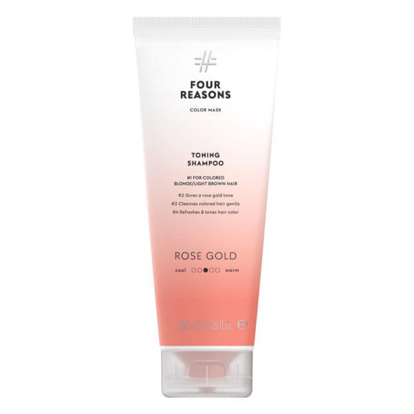 Four-Reasons-Color-Mask-Shampoo-Rose-Gold-sävyttävä-shampoo-vaaleille-ja-vaaleanruskeille-hiuksille
