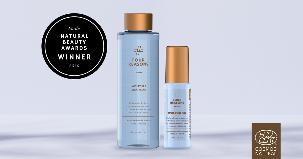 Four Reasons Nature Moisture products won at the Nordic Natural Beauty Awards!